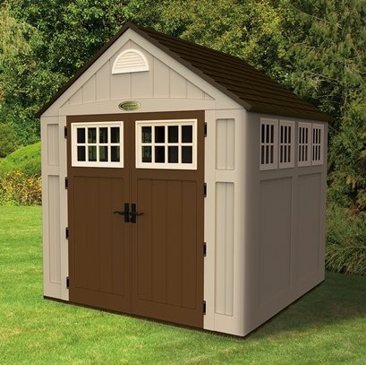 Suncast storage sheds available at Target and other sources.
