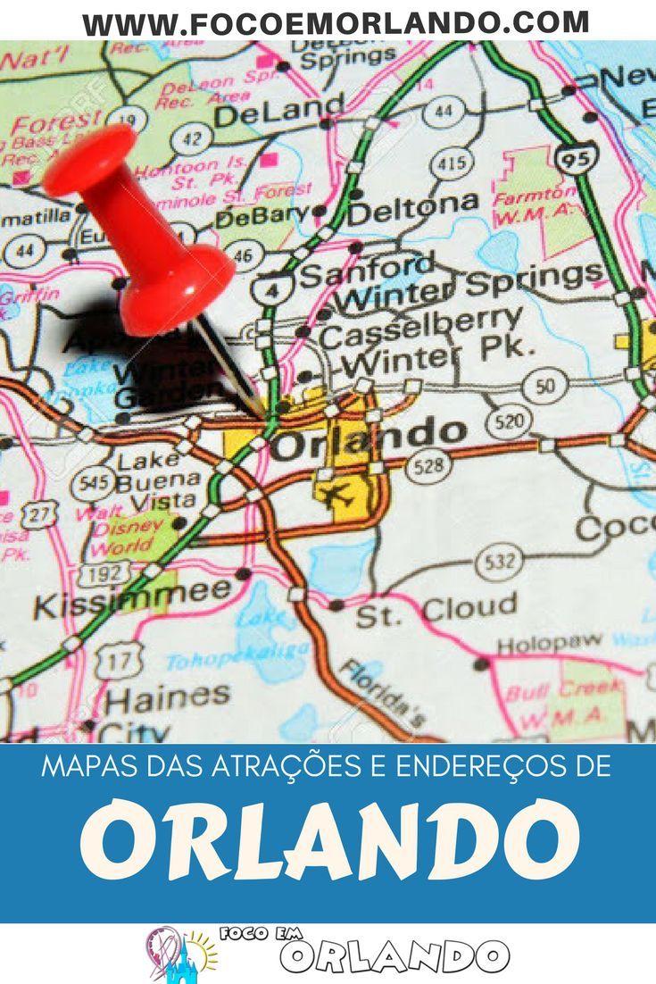 mapas e endereços para sua viagem para orlando | miami