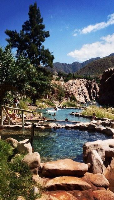 Mendoza's thermal baths at Termas Cacheuta (spa) in Argentina