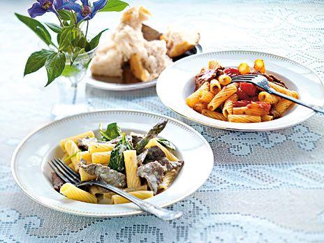 Rigatoni med lövbiff och oregano | Recept från Köket.se