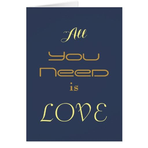 Valentine's Day Typography Love card
