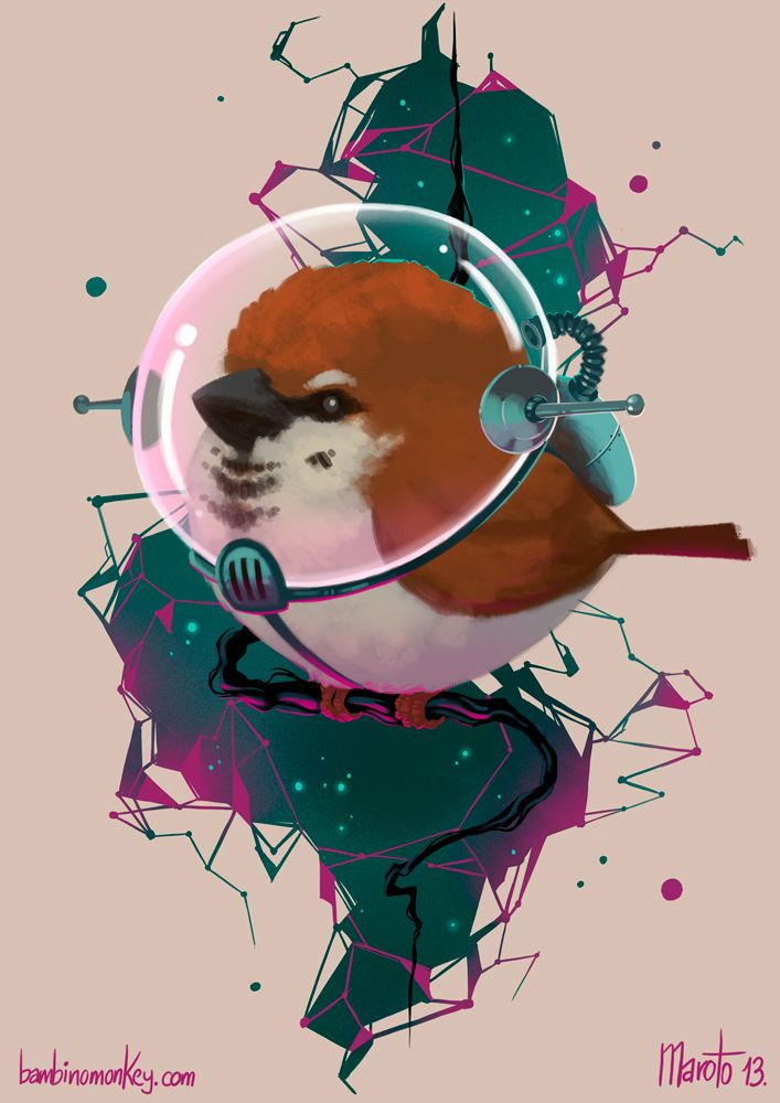 SpaceGorrión by Maroto Bambinomonkey, via Behance