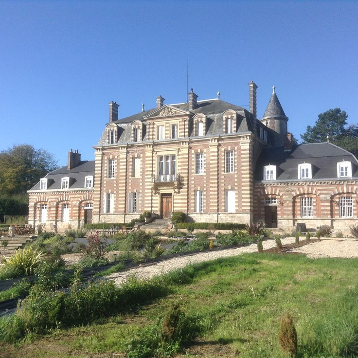 Gardens of chateau after one year of planting