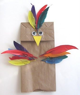 711 best diy puppets playtivities images on pinterest for Feathered birds for crafts