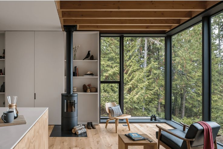 Modern Sanctuary in the Woods of Washington State - http://freshome.com/modern-sanctuary-in-washington/
