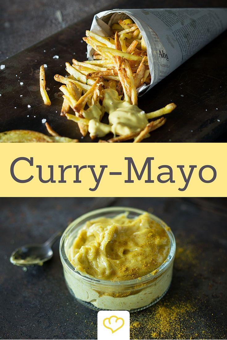 Nichts geht über hausgemachte Pommes und Curry-Mayo!