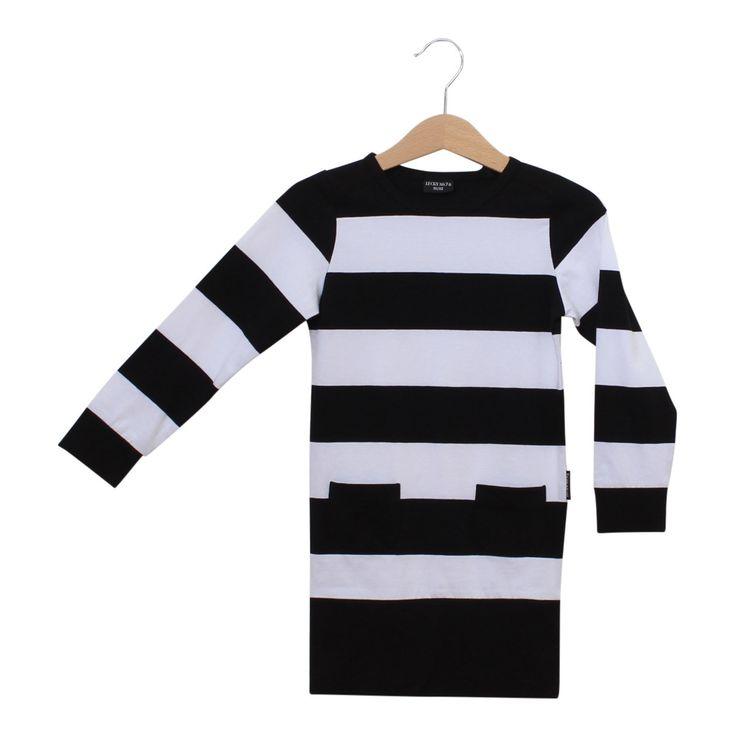 dress, stripped dress, black, white, lucky.no7, jurk, zwart, wit, strepen, streepjes, meisjes kleding, kinderen mode, kids fashion, girls fashion, girls,