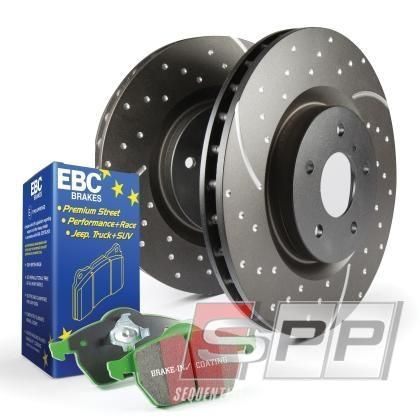 Stage 10 Kits Greenstuff 2000 and GD Rotors 1 x ebcGD1535 EBC 09-11 Audi A4 2.0 Turbo GD Sport Rear Rotors 1 x ebcDP22082 EBC 11 Audi A6 2.0 Turbo Greenstuff Rear Brake Pads