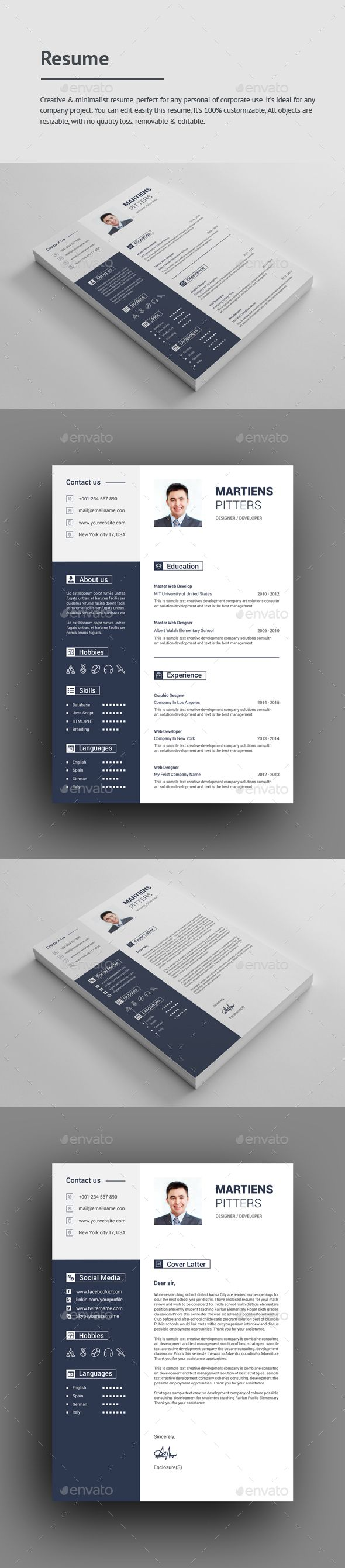 Buy Resume by GraphStyle on GraphicRiver File