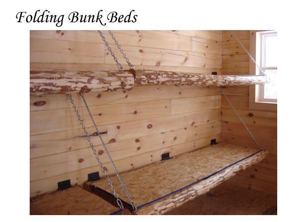 Idea For Diy Fold Up Bunks In Cabin Bunk Bed Plans