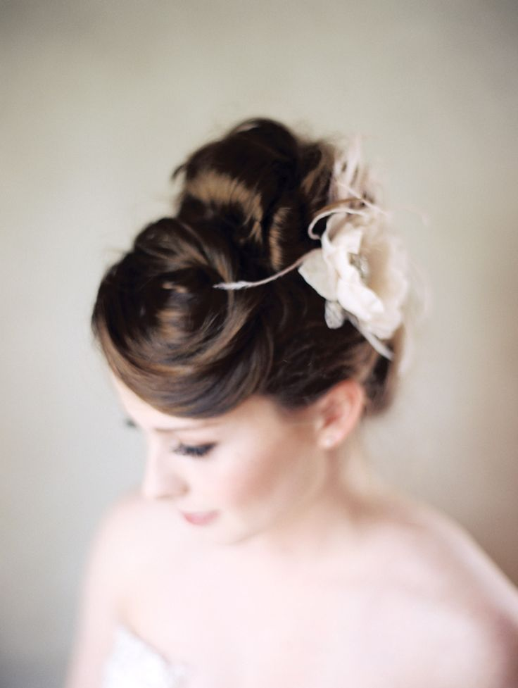 Pretty Bridal Updo and Accessory from Serephin Photography: Kali Lu Photo - www.kaliluphoto.com