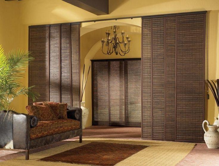 Бамбуковые шторы на дверной проем: 80 гармоничных идей экостиля в интерьере http://happymodern.ru/bambukovye-shtory-na-dvernoj-proem/ Бамбуковые шторы, раздвигающиеся по горизонтали, вместо стандартных дверей в японском интерьере