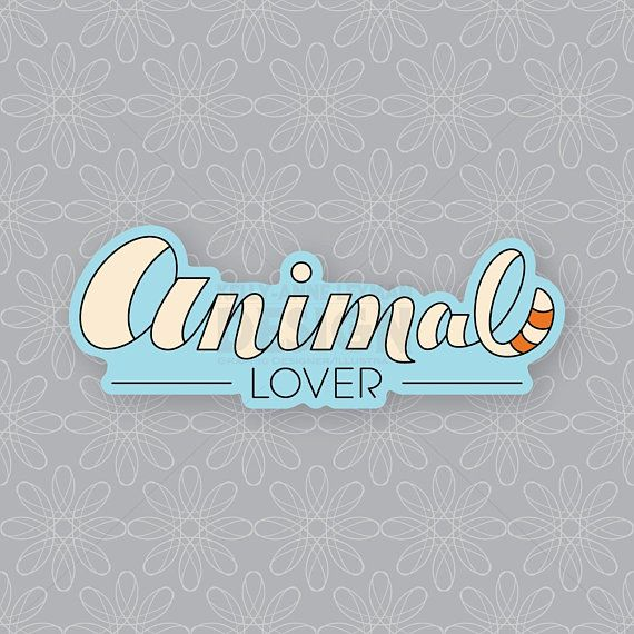 Animal Lover Sticker, Fox Sticker, Vinyl Sticker, Laptop Sticker, Decal, Cute Sticker, Party Favor, Hand Lettering Sticker, Gifts Under 5