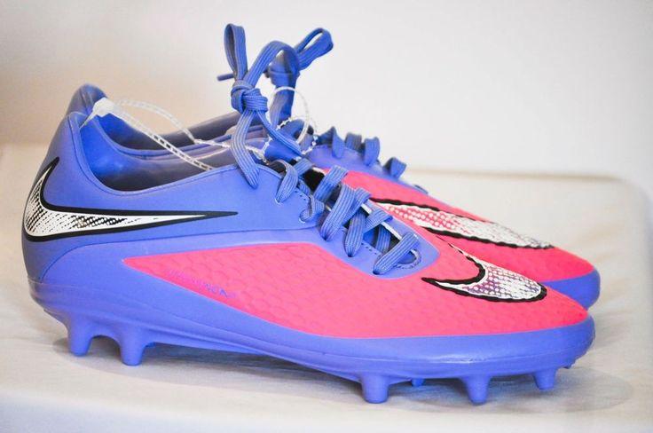 Nike Hypervenom Phelon FG Women Soccer Cleats Pink Power/Polar White/Chrome 8…