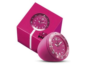Lolliclock Rock Pink. The ultimate desk accessory or gift. 44mm, ABS Polycarbonite case + PC Rock backcover, 1ATM, PC21S movement. Buy online at www.lolliclock.com.au