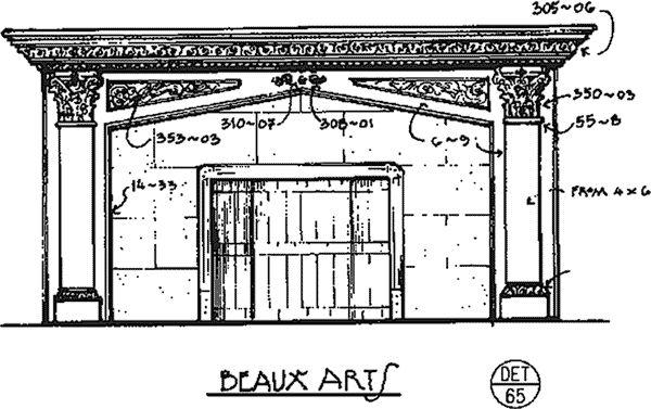 Beaux Arts Fireplace Surround - Det. 65