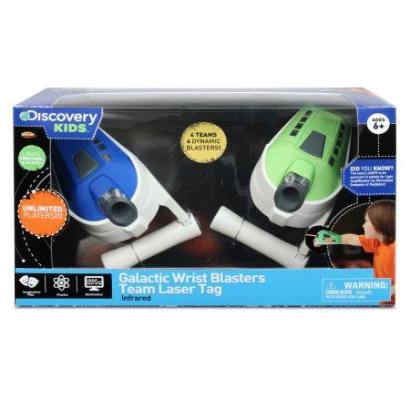Nkok Discovery Kids IR Galactic 3-Team Wrist Blasters Laser Tag Remote Control Toy