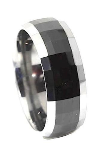 6MM Polished Tungsten Two Tone Men's Wedding Engagement