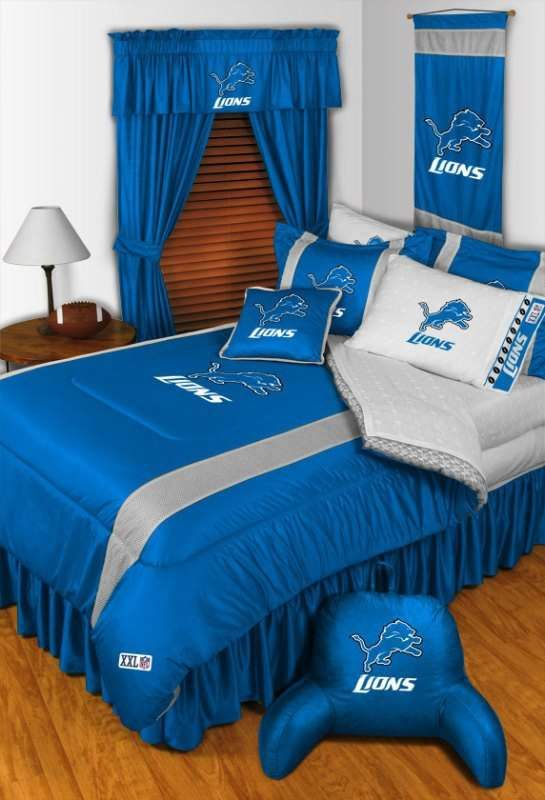 Officially Licensed Detroit Lions NFL Football Bedding In Official Team  Colorsu2026