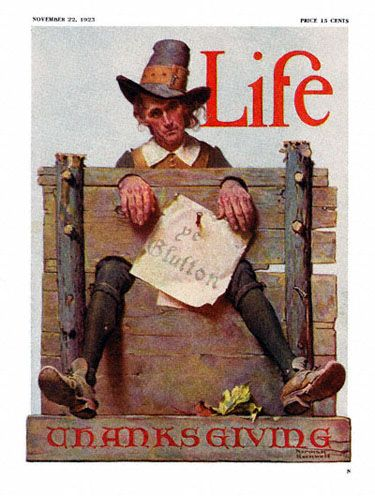 best thanksgiving paintings images | Norman Rockwell Life Magazine cover published November 22, 1923. The ...