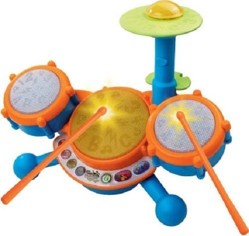 Kids Drum Set Toy Electronic Learning Drumset Vtech Sound Light Music Instrument #Vtech
