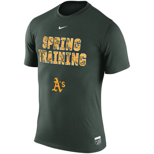 Oakland Athletics Nike 2016 Authentic Collection Legend Team Issue Spring Training Performance T-Shirt - Green - $33.99