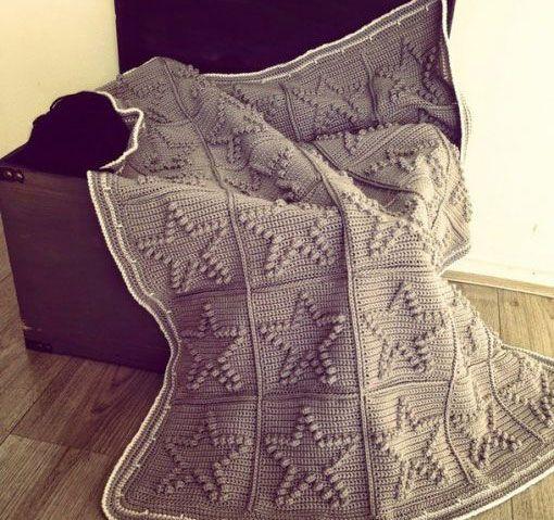 Crochet Bobble Heart Blanket Pattern. More Patterns Like This!