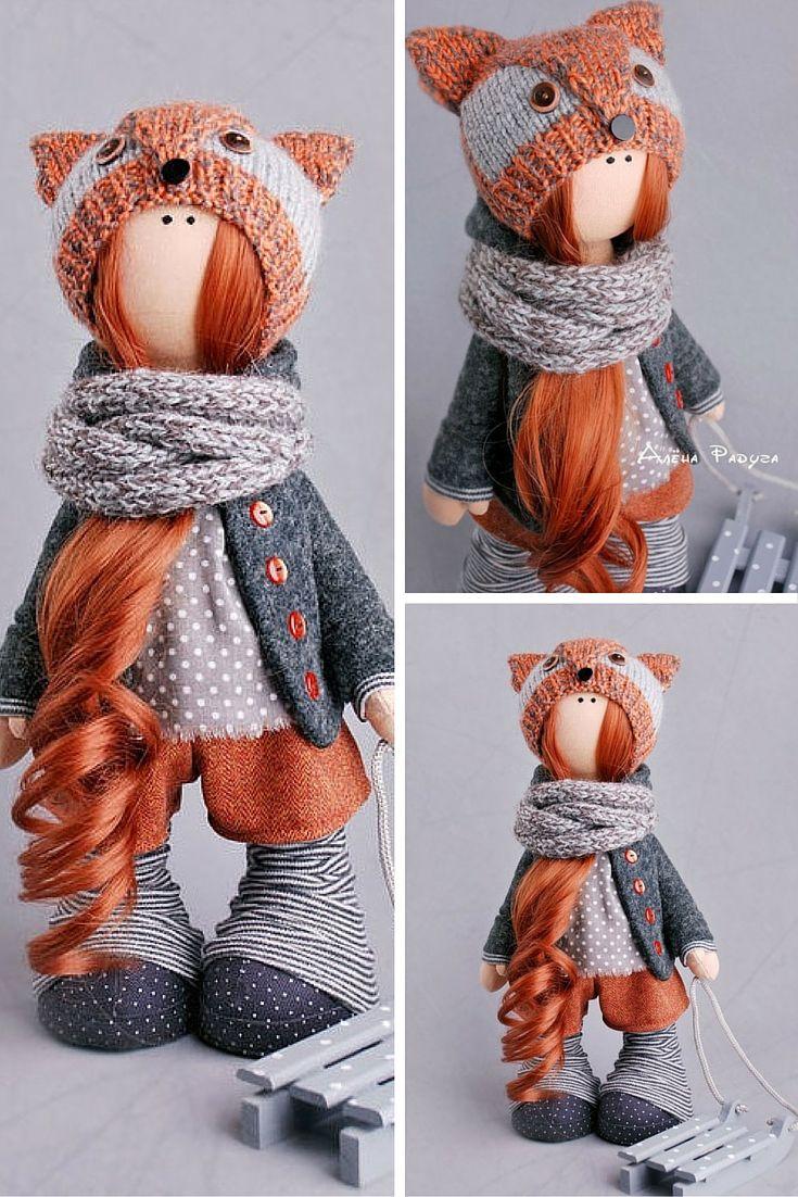 Baby doll, art doll, tilda doll, textile doll, fabric doll, decor doll, collection doll, rag doll, soft doll