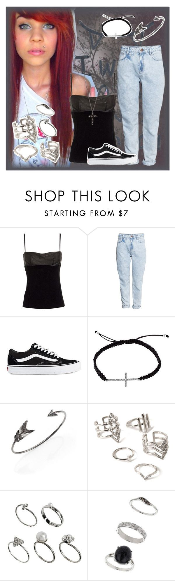 """""""Beautiful In Black"""" by andyrosexxx on Polyvore featuring Nicole, Alexander Wang, H&M, Vans, Divine Silver, Jade Jagger, Forever 21, ASOS and Miss Selfridge"""