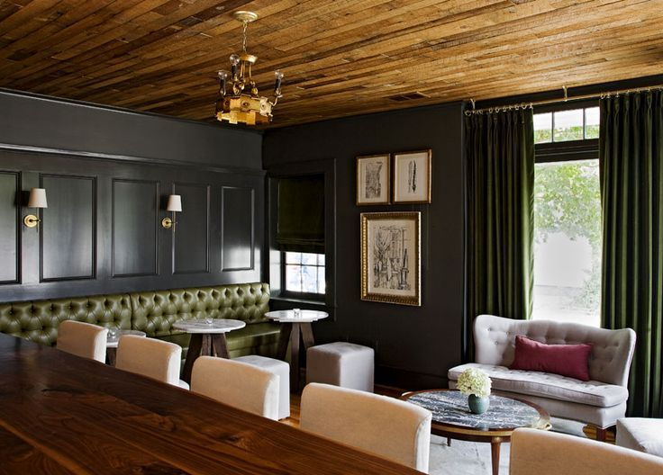 Olive green velvet drapes one of my favs dark walls - Curtains for olive green walls ...