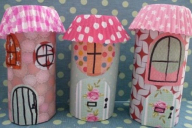 Transform a boring old toilet roll into a pretty fairy house. A quick and easy craft for kids. Here are the step by step instructions.