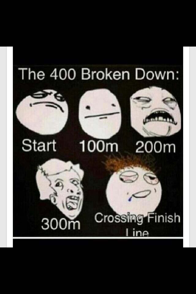 Runner problems. lol. Yea if you get stuck running next to the fastest dude on the track! haha
