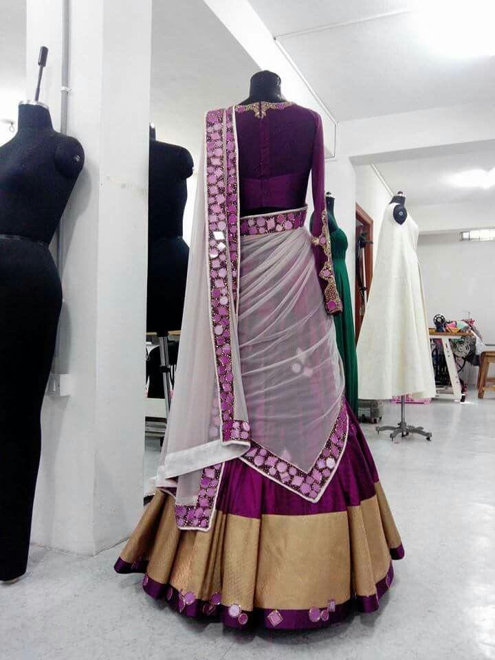 Half saree. I love the colors.