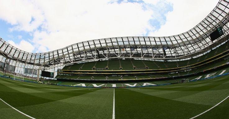 Aviva Stadium, em Dublin (Irlanda). Preço: US$ 484 milhões (valor na época da construção). Capacidade: 51.700. Proprietários: União de Rúgbi e Federação de Futebol da Irlanda. Inaugurado em 2010.