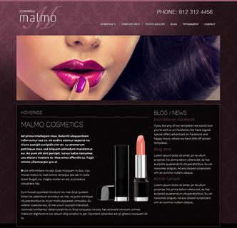 Malmo Cosmetics Joomla Template, just released. The perfect Joomla responsive template for the beauty/makeup industry. with its elegant look and impressive collection of customisation options this is an easy to use Joomla template you'll be sure to love. Find out more by clicking on the link