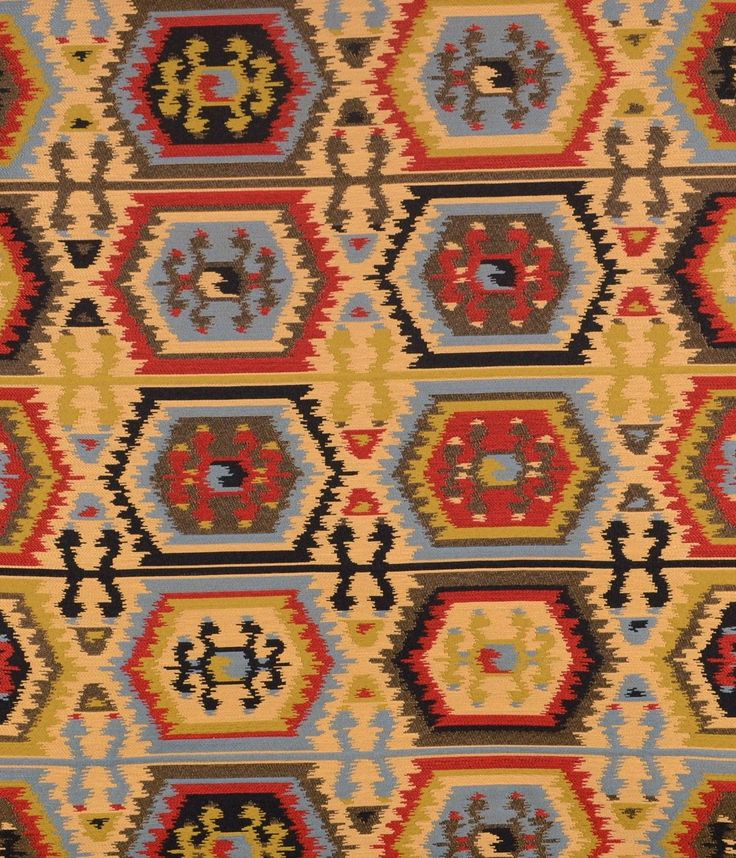 Pancho villa red southwest swavelle upholstery fabric for Space mountain fabric