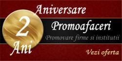 Doi ani de Promoafaceri.com: promovare online pentru sute de firme, mii de informatii si parteneri de suflet. Echipa Promoafaceri.com le multumeste tuturor partenerilor sai pentru tot acest parcurs impreuna.