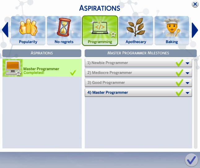 marlyn sims | The Sims 4 Programmer Aspiration!