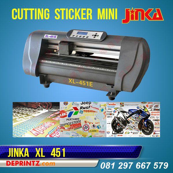 Mesin Cutting Sticker JINKA 451 XL adalah Mesin Cutting Plotter JINKA TERBARU, Tipe XL memiliki keunggulan Model lebih Bagus, Hasil Potong lebih Optimal, Body Lebih besar, Suara Mesin lebih halus, Memory Internal lebih Stabil, dan memiliki Sensor Infra Red yang bisa digunakan untuk Print & Cut. Mesin ini mampu memotong Bahan Sticker dengan Area Lebar maksimal 45 cm.Harga PROMO : Rp. 4.290.000,-