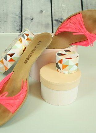 Kaufe meinen Artikel bei #Kleiderkreisel http://www.kleiderkreisel.de/damenschuhe/sandalen/140119290-jil-sander-sandalette-sandale-pink-blogger-neon-gr-405