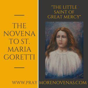 """Hoewel het nog steeds de jaar van genade, we dachten dat deze volgende noveen misschien zeer geschikt: een noveen, """"de kleine heilige van grote genade.""""   De volgende noveen die we bidden is de noveen St. Maria Goretti! Wij zullen beginnen op maandag, 27 juni bidden."""