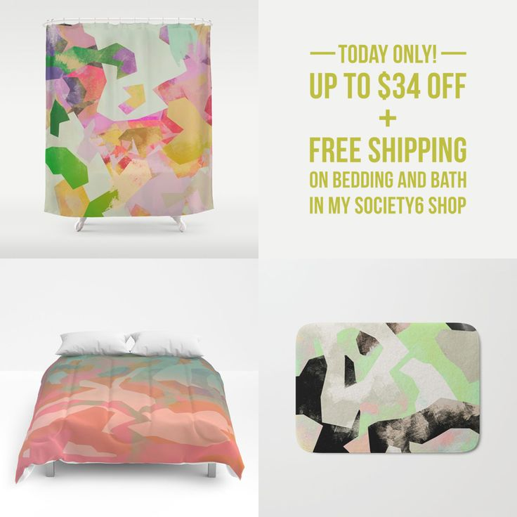 TODAY's DEAL! UP TO 34$ OFF ALL BATH AND BEDDING ITEMS IN MY @society6 STORE!!    #homedecor #design #pattern #Society6 #instagood #artist #cool #love #picoftheday #bedroom #bedding #bathroom #interiors #inspiration #abstractart #decoration #decor #creativity #camouflage #dealoftheday #shower