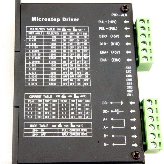 กล่องควบคุมสเตปปิ่งมอเตอร์ CNC Stepper Motor Driver 2M542 DC24-50V 4.2A Controller