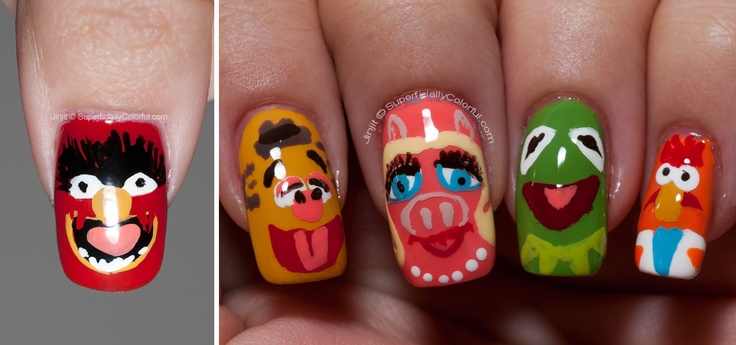 The Muppets!  OMG I want Kermie and Animal nails!  So cuuuuute!