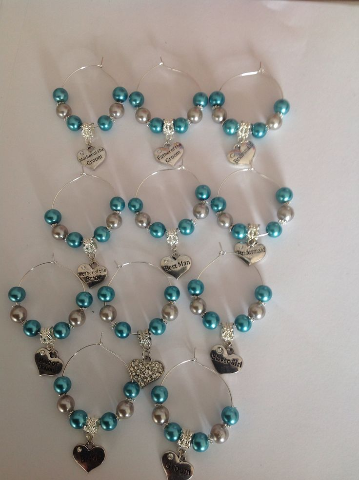 Wine charms choice of colours £1.99 each.