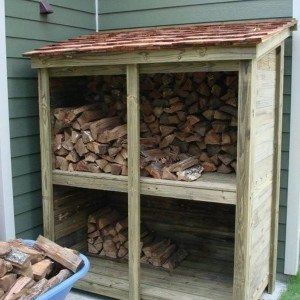 Vintage Small Side Firewood Shed , Firewood Shed Storage In Storage And Organization Category