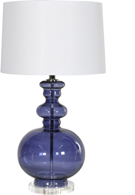 Blue Glass Table Lamp (Table and bedside lamp)