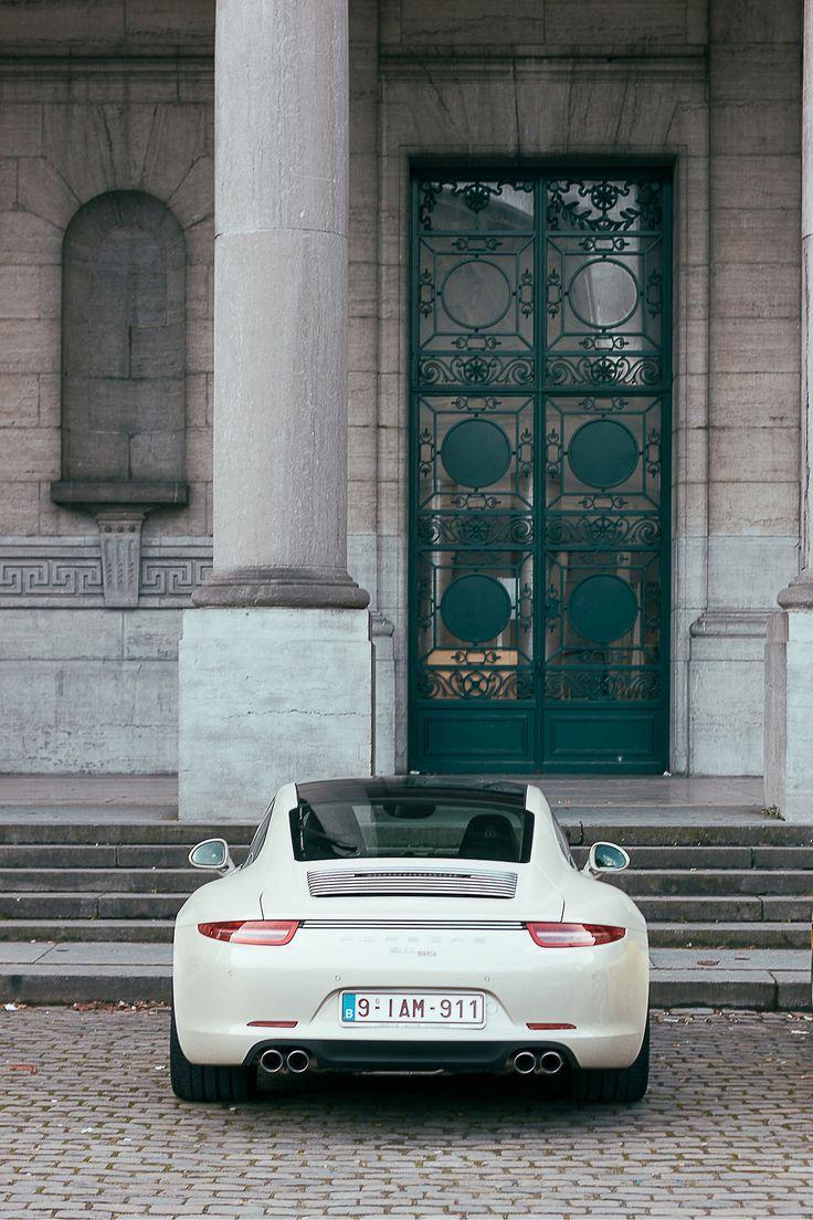 My favorite car - white Porsche 911