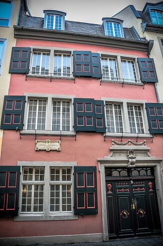 "Beethoven House in Bonn Germany. This is Ludwig van Beethoven´s real Birthhouse. In this house Beethoven composed his famous ""Little Night Music."""