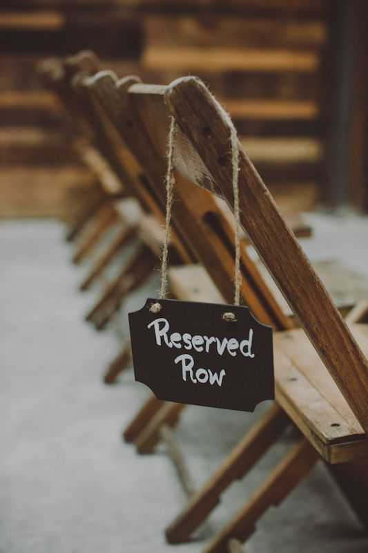 ceremony reserved sign // photo by Chellise Michael // http://ruffledblog.com/elegant-brooklyn-winery-wedding